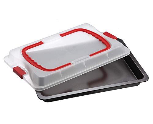 Dr. Oetker Backblech 3in1 mit Transporthaube, Ofenblech zum Backen, Aufbewahren & Transportieren, als Pizza-, Auflauf- & Kuchenblech, Maße: 42 x 29 cm 1