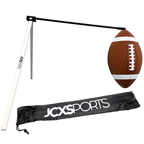 JCXSPORTS Football Kicking Tee - Field Goal Football Place Holder - Pro Kickoff Post (Black/White)