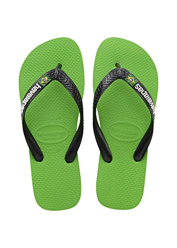 Havaianas Brasil Logo, Chanclas Unisex Adulto Multicolor (Green Neon/Black 6775)