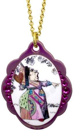 Tarina Tarantino Queen Alice Baroque Necklace (Red) (Tarina Tarantino Lucite Necklace Crystal)
