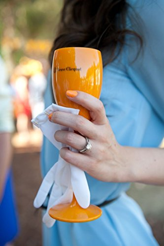 Orange Veuve Clicquot Yellow Label Acrylic Plastic Champagne Flute Cup (Best Champagne Veuve Clicquot)