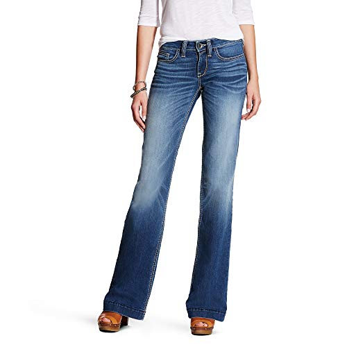 (Ariat Women's Trouser Jean, Bonnie Stitch, 33 Reg)