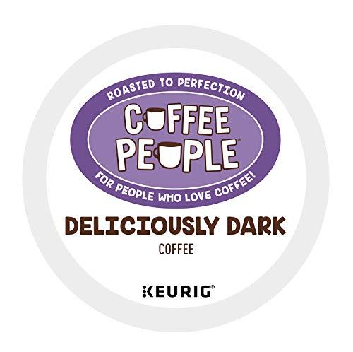Coffee People Deliciously Dark, Keurig Single Serve Coffee K-Cup Pod, Dark Roast, 72 Count