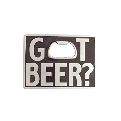 Vintage Classic Black Enamel Got Beer Bottle Opener Rectangle Belt Buckle (Beer Belt Buckle Bottle Opener)