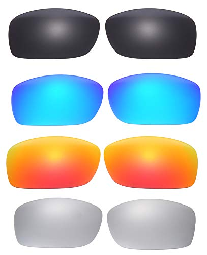 4 Pairs Polarized Replacement Lenses for Oakley Fives Squared Sunglasses NicelyFit (Oakley Five Replacement Lens)