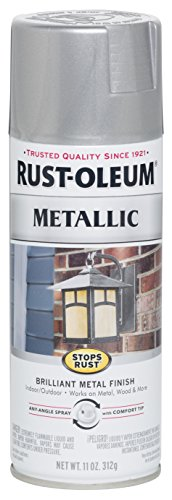 Rust-Oleum 7271830 Stops Rust Metallic Spray Paint, 11 oz, Silver ()