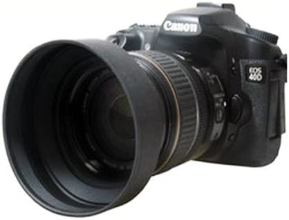 52mm Black Generic Rubber Folding Lens Hood Wide Angle Standard Black