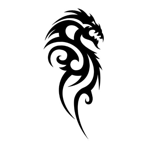 Creativo tatuaje tribal de Dragon, vinilo adhesivo pared Art Deco ...