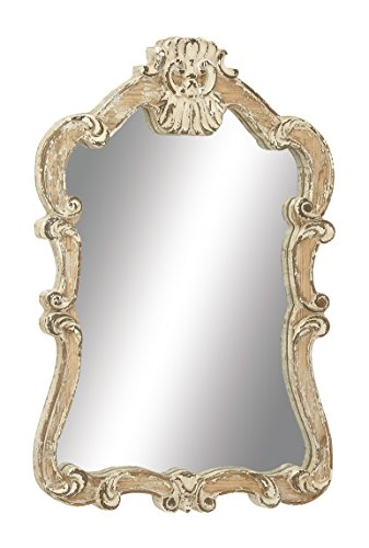 (Deco 79 18197 Wood Wall Mirror, 25