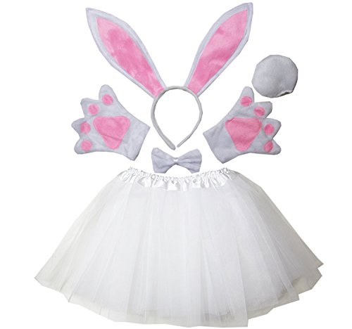 Kirei Sui Kids Easter Bunny Costume Tutu Set White -