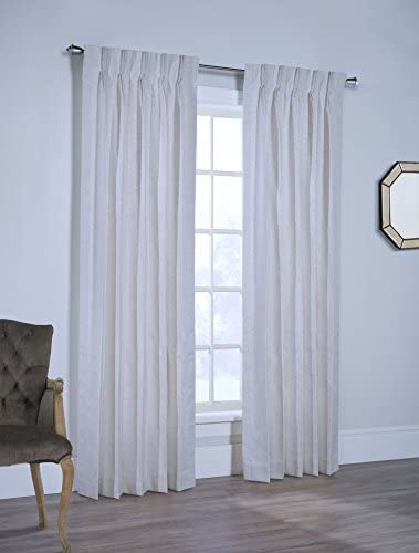 Sunshine Rio Lined Pinch Pleated Drapes Ready to Hang with Curtain Hooks 220W x 84L Pair