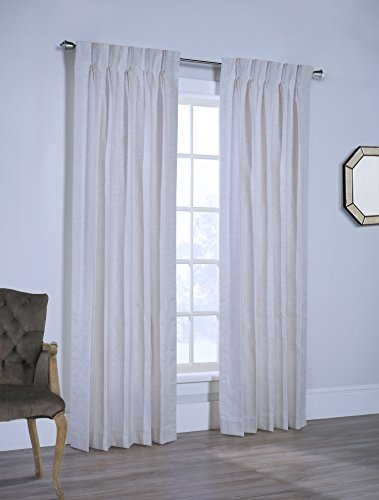 Rio Lined Pinch Pleated Drapes Ready To Hang with Curtain Hooks (154W x 84L pair)