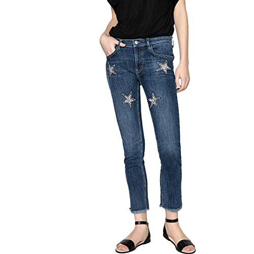 Redoute Collections Stelle Donna La Blu Stone Jeans Patchs OR1Ox