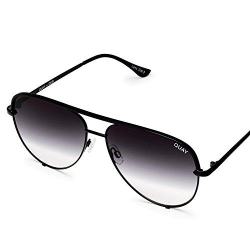 Quay Australia HIGH KEY MINI Men's and Women's Sunglasses Aviator Sunnies - Black/Fade by Quay Australia (Image #1)