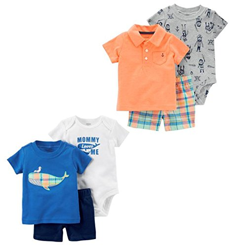 Carters-Baby-Boys-6-Piece-Bodysuit-Tee-and-Short-Set