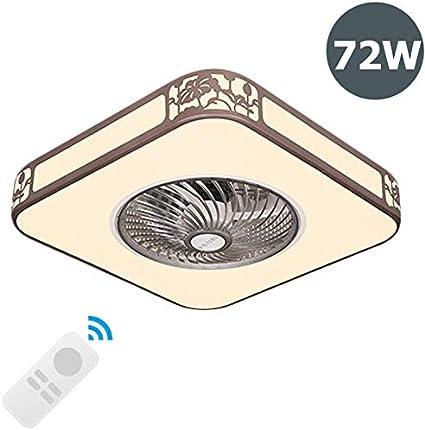 ZMLG Moderno Ventilador de Techo con Iluminación, Luces de Techo Comedor con Ventilador y Control Remoto Velocidad de Viento Ajustable 3 Colores Regulables Luz de Techo,Ø:58cm/72w
