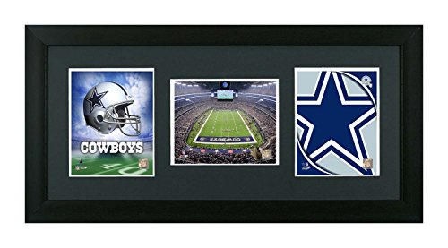 NFL, Dallas Cowboys Framed 3 In 1 Showcase, Helmet, Field & Logo by Skyway Gallery