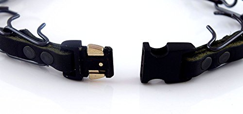 Herm Sprenger Black Stainless Steel Prong Collar with Pawmark Quick-Snap Buckle - Large by Pawmark Products (Image #2)