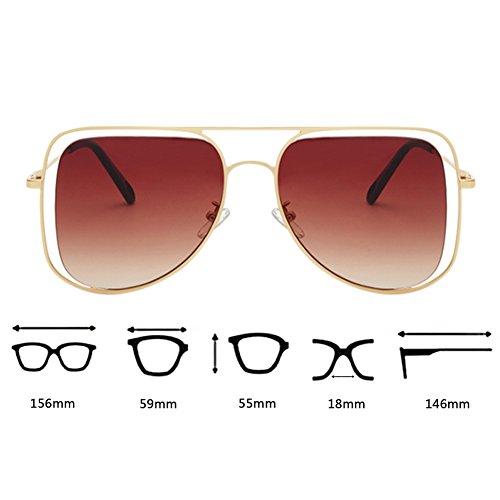 de de que gafas sol las las de Café Gafas de gafas sol lentes las redondas ULTRAVIOLETA de sol anti de conducen sol hueco sol las de lentes único de diseño Dorado del SpTqpd