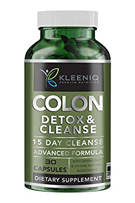 KLEENIQ 15 Day Colon Detox & Cleanse–30 Caps–Support Cleansing Detox Kit and Weight Loss Pills–for best potency to Absorb Vitamins, Mineral and Nutrients. Get Yours Now!
