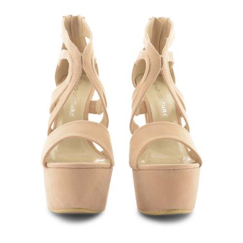 Footwear Sensation - Sandalias de vestir para mujer negro negro negro - Nude Suede
