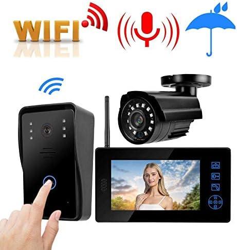 ドアベル、7インチ2.4Gワイヤレスフォトビデオインターホンドアベル(ホームオフィスアパートメント(英国)用)