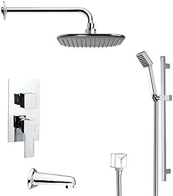 Remer TSR9034 Galiano Pressure Balance Tub and Shower Faucet 11.5 L x 10 W