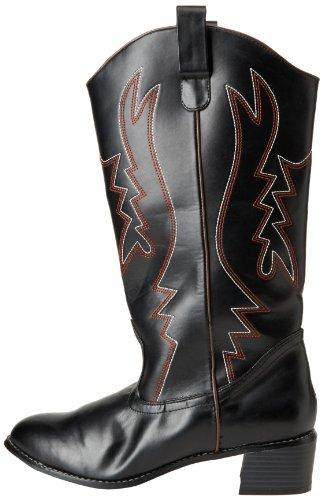 Funtasma by Pleaser Men's Cowboy 100 Boot,Black,L