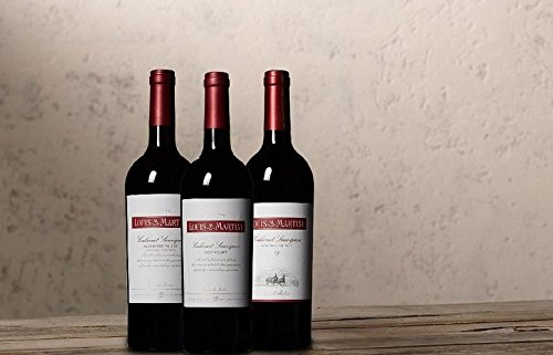 Louis M. Martini Discover Cabernet Sauvignon Tasting Flight Wine Mixed Pack 3 x 750mL