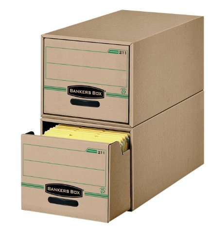Bankers Box Stor/Drawer 100% Recycled Storage Drawers, Legal, 6 Pack (00212) by Bankers Box