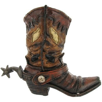 Brown Cowboy Boot Vase Theatre Media Room Home