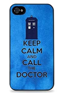 Keep Calm and Call the Doctor Who - Black Silicone Case For Apple 5 / 5S - 458