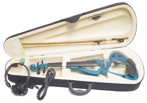 ViolinSmart EV20 Electric Violin (4/4 Full Size, Color: Blue)