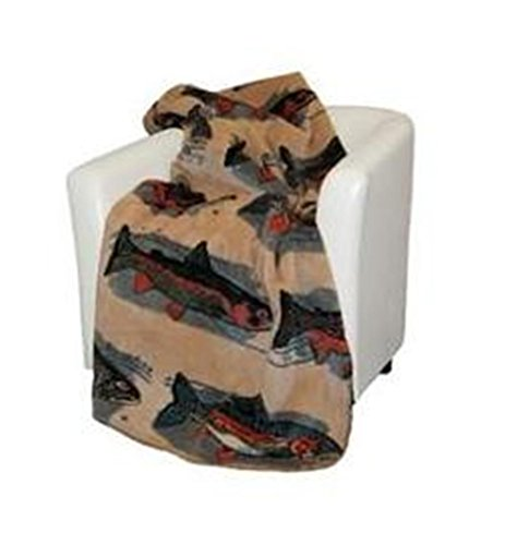 60 Mill Creek Collection (Denali Home Collection by Mont Double-Sided Reversible Throw, 60 by 70-Inch, Pebble Creek/Pine)