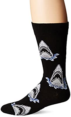 Socksmith Men's Shark Attack Crew Socks