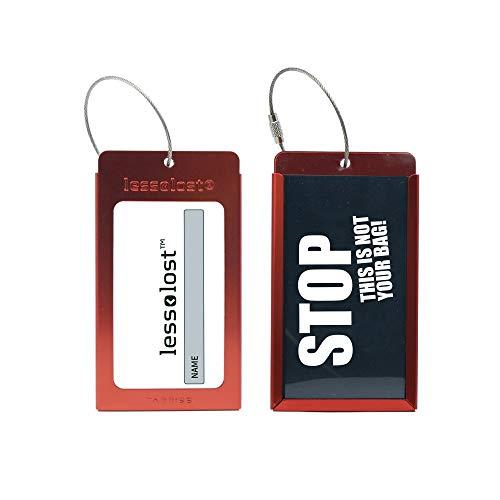 Tarriss Customizable Metal Luggage Crimson product image