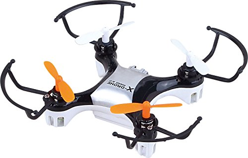 X-Drone Nano 2.0 Aerial Drone Quadcopter Radio Controlled High Performance UFO for RC Enthusiasts, Black by helicute