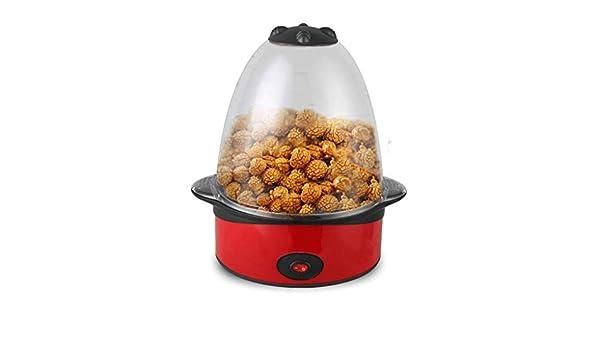 Máquinas de Palomitas La Tapa de la Superficie de Popcorn Machine Party Electric Popcorn Maker también Sirve como tazón para Servir 500W Rojo: Amazon.es: ...