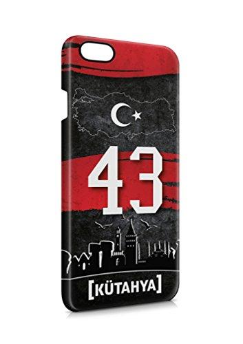 3D iPhone 7 Kütahya 43 Plaka Türkiye Hard Tasche Flip Hülle Case Cover Schutz Handy