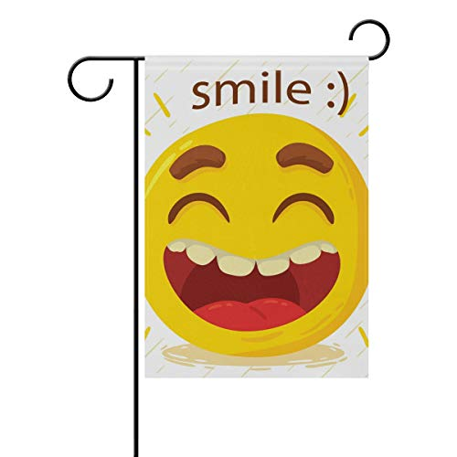 Jojogood Happy Smile Emoticon Garden Flag 12