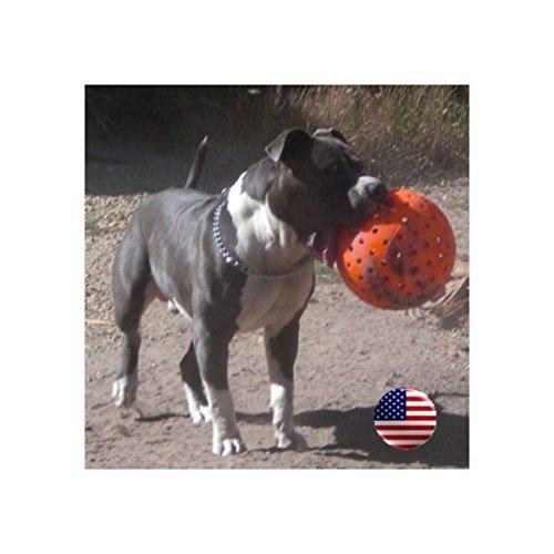 Indestructible 10'' Large Dog Ball in Orange Pit Bulls Mastiffs Rottweiler