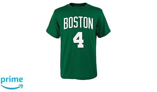 9c07a9b5456 ... Amazon.com Isaiah Thomas Boston Celtics 4 Youth NBA Name Number T-Shirt  Sports ...