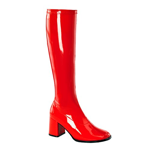 - Pleaser GOGO-300 Womens Shoes, Red Stretch Patent, Size 5