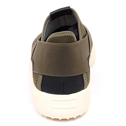 Man F3116 Eco Mix Shoe tissue Suede Sneaker Verde Scarpe Green nero Uomo Fessura Dinghy R4UnqPnH