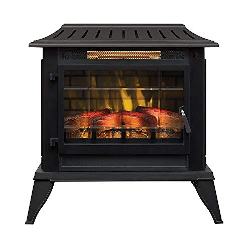 Duraflame Electric CFI-5002-BLK Fireplace Stove Heater, Black ()