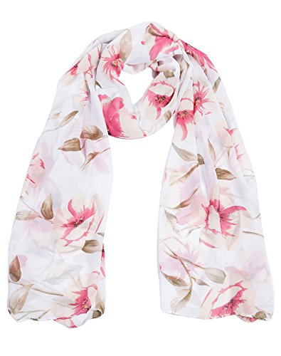 Floral - White 03 (White Floral Scarf)