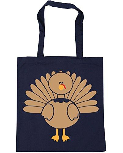 HippoWarehouse Turquía bolsa de la compra bolsa de playa 42cm x38cm, 10litros azul marino