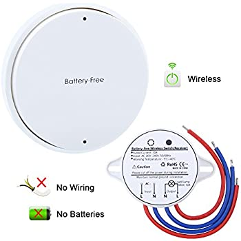 Acegoo Wireless Lights Switch Kit No Battery No Wiring Quick