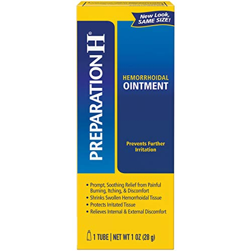 (Preparation H Hemorrhoid Symptom Treatment Ointment, Itching, Burning & Discomfort Relief, Tube (1.0 oz))