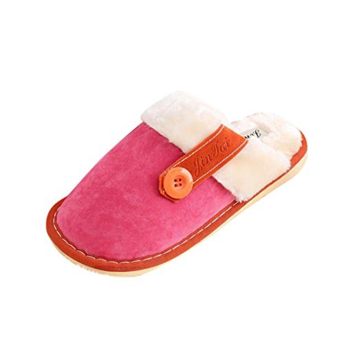 Amiley Mujeres Plush Floor Floor Floor Decor Soft Scuffs Slipper Zapatos De Ocio Hot Pink